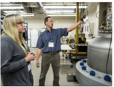 Adrienne Phillips and Robin Gerlach at the Center for Biofilm Engineering at MSU
